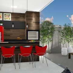 Pequenos espaços e grandes possibilidades: Terraços  por Trivisio Consultoria e Projetos em 3D