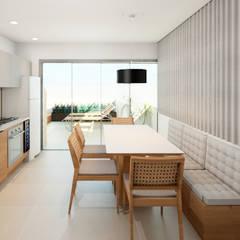 Apartamento EA: Cozinhas pequenas  por Studio MBS Arquitetura