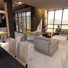 Desain Villa Bapak Agus Rudi di Malang: Unit dapur oleh Wahana Utama Studio, Modern Granit