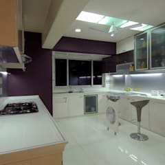Residential Interior Project for Mr. Chudasama:  Built-in kitchens by Jeearch Associate