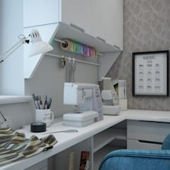 Дизайн проект двухкомнатной квартиры в скандинавском стиле: Рабочие кабинеты в . Автор – Искусство Интерьера