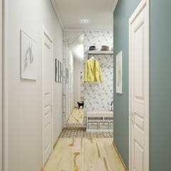 Дизайн проект двухкомнатной квартиры в скандинавском стиле: Коридор и прихожая в . Автор – Искусство Интерьера