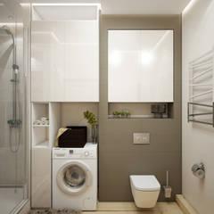 Дизайн проект двухкомнатной квартиры в скандинавском стиле: Ванные комнаты в . Автор – Искусство Интерьера