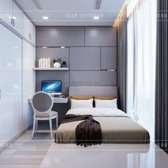 THIẾT KẾ CĂN HỘ VINHOMES NHẸ NHÀNG, TINH TẾ cùng ICON INTERIOR:  Phòng ngủ by ICON INTERIOR