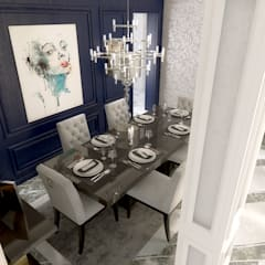ALMANSOUR RESIDENCE: modern Dining room by Belal Samman Architects