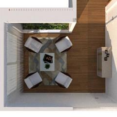 Lounge : Jardins de inverno modernos por Thaiad Pinna -Studio de Arquitetura e Interiores