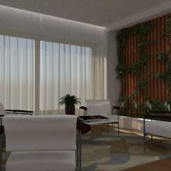 Projeto Dormitório Com Suíte e Closet: Jardins de inverno modernos por Thaiad Pinna -Studio de Arquitetura e Interiores