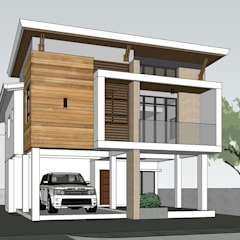 Two Storey 5 Bedroom Residential:  Houses by ezpaze design+build,