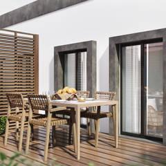 Model home - Lisbon: Terraços  por DZINE & CO, Arquitectura e Design de Interiores