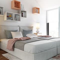 Bedroom by DZINE & CO, Arquitectura e Design de Interiores, Eclectic