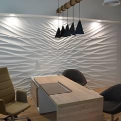 3D Wandverkleidung aus Gips Modell ILLUSION:  Wände von Loft Design System Deutschland