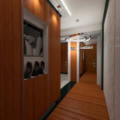Koridor dan lorong oleh STUDIO DESIGN КРАСНЫЙ НОСОРОГ, Mediteran