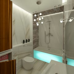 Дизайн-проект квартиры в стиле шикарной яхты 95 кв.м., ванная: Ванные комнаты в . Автор – STUDIO DESIGN КРАСНЫЙ НОСОРОГ