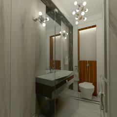 Дизайн-проект квартиры в стиле шикарной яхты 95 кв.м., санузел с душевой кабиной: Ванные комнаты в . Автор – STUDIO DESIGN КРАСНЫЙ НОСОРОГ