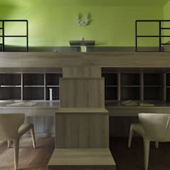 غرفة نوم أولاد تنفيذ 李正宇創意美學室內裝修設計有限公司 , حداثي