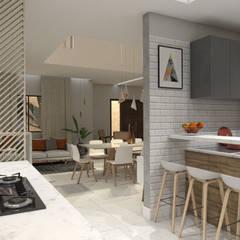 Casa RN-17: Cozinhas  por Agenor Gomes Arquitetura + Design