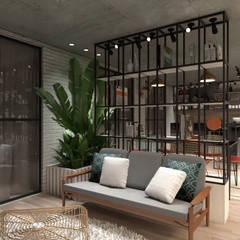 Varanda Gourmet: Salas multimídia  por Agenor Gomes Arquitetura + Design