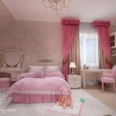 Nawet w niewielkim domu można stworzyć francuskie wnętrze): styl , w kategorii Pokój dla dziwczynki zaprojektowany przez Design studio TZinterior group
