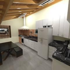 Espaço Gourmet: Armários e bancadas de cozinha  por Seu Projeto Arquitetura