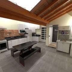 Visão geral: Armários e bancadas de cozinha  por Seu Projeto Arquitetura
