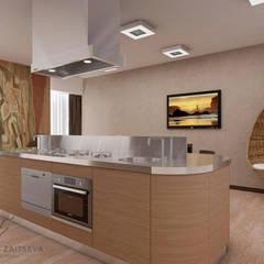 Dom dla wolnych ludzi. Minimalizm i morze powietrza.: styl , w kategorii Kuchnia na wymiar zaprojektowany przez Design studio TZinterior group
