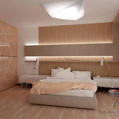 Dom dla wolnych ludzi. Minimalizm i morze powietrza.: styl , w kategorii Sypialnia zaprojektowany przez Design studio TZinterior group