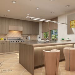 Built-in kitchens by Design studio TZinterior group, Tropical