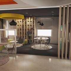 Area comun Inercambio Express --DiverXo Studio: Oficinas y tiendas de estilo  por DiverXo Studio