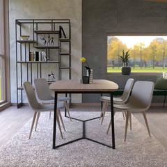 Projeto 3D: Salas de jantar modernas por BORAGUI - Design Studio