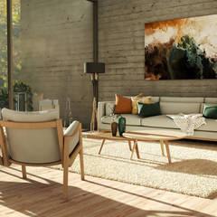 Projeto para Sala de Estar : Salas de estar  por BORAGUI - Design Studio