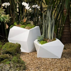 FRP Multidimensional Small Planter:  Hotels by Scube Creations