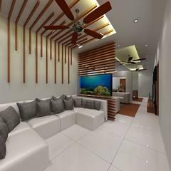 Luxury Interiors:  Corridor & hallway by TRIANGLE HOMEZ