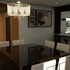 Vista interior : Comedores de estilo mediterraneo por MC/AP Arquitectos