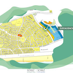 Ubicación de Imáreas en Pinamar Norte.: Hoteles de estilo  por Estudio Schulz