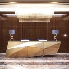 Элитный дизайн зоны рецепции в офисе: Офисные помещения в . Автор – Art-i-Chok
