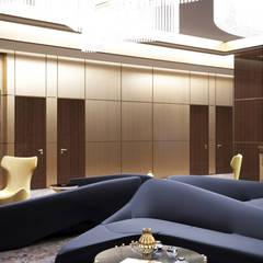 Обтекаемые формы мягкой мебели в фойе офиса - дизайн офисов Киев: Офисы и магазины в . Автор – Art-i-Chok