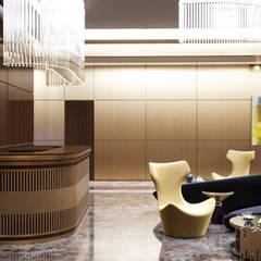 Дизайн входной зоны офиса в коричневых тонах: Офисные помещения в . Автор – Art-i-Chok
