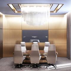 Продуманный дизайн переговорной комнаты в стиле модерн: Офисные помещения в . Автор – Art-i-Chok