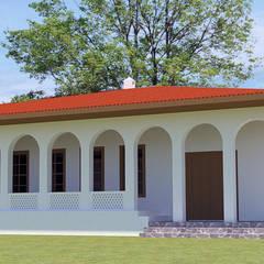 SDMIM MİMARLIK | ARCHITECTURE  – Doğal Malzemeden İnşa Edilmiş Yapılar (Toprak, Taş, Ahşap, Kerpiç):  tarz Bahçe