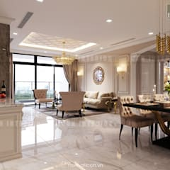 Thiết kế nội thất phong cách Tân Cổ Điển: Nội thất chất lượng - Cuộc sống đẳng cấp:  Phòng ăn by ICON INTERIOR