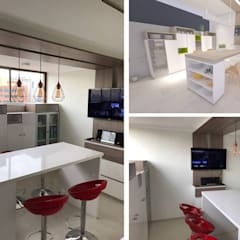 COCINA ARAVENA-LAS CONDES: Muebles de cocinas de estilo  por HZ ARQUITECTOS