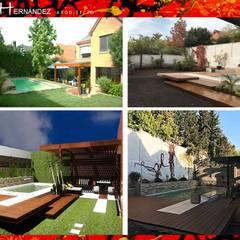QUINCHO PISCINA J.D.: Terrazas  de estilo  por HZ ARQUITECTOS