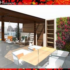 TERRAZA EN LAS CONDES: Terrazas  de estilo  por HZ ARQUITECTOS