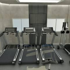 ACADEMIA -VILA MADALENA: Fitness  por EX ARQUITETURA E INTERIORES