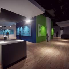 MUSEOGRAFÍA EN CAMPO SANTO YUNGAY- HUARAZ- PERU: Centros de exhibición de estilo  por NATIVAARQUITECTOS E.I.R.L