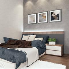 Semi Detached House - Austin Residence Johor Bahru,Malaysia Modern style bedroom by Enrich Artlife & Interior Design Sdn Bhd Modern
