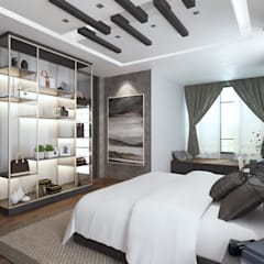 Semi Detached House - Austin Residence Johor Bahru,Malaysia:  Bedroom by Enrich Artlife & Interior Design Sdn Bhd