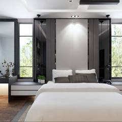 MASTER BEDROOM:  Bedroom by Enrich Artlife & Interior Design Sdn Bhd