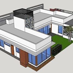 Bungalow oleh Monoceros Interarch Solutions, Modern Batu Bata