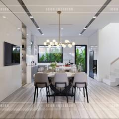 Thiết kế nội thất biệt thự Nine South - Tinh tế đến từng chi tiết nhỏ!:  Phòng ăn by ICON INTERIOR